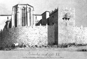 Torre-dos-Abades. Aguatinta sobre papel