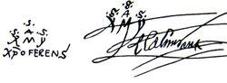 Las firmas de Cristóbal Colón