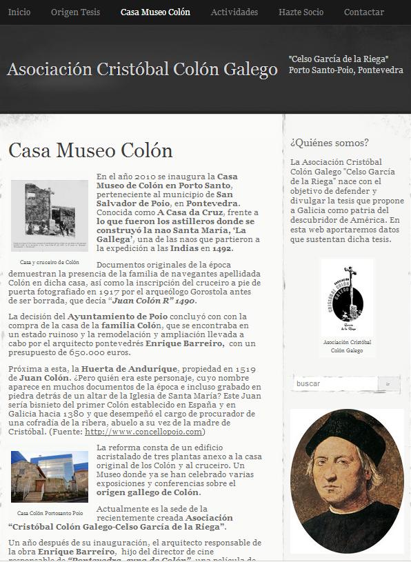 Asociación Cristóbal Colón  galego García de la Riega