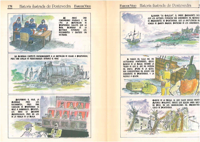 El nuevo mundo: Colón y Pontevedra – Historia ilustrada de