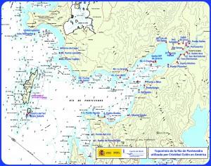 Carta náutica presentada en Pontevedra