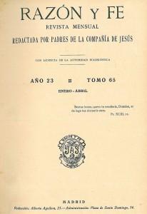 revista razón y fe 1923