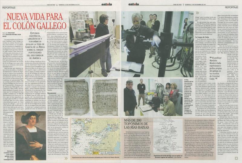 revista estela Faro de Vigo documentos Colón gallego